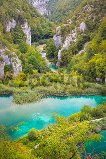 Landscape in Plitvice Lakes National Park, Croatia