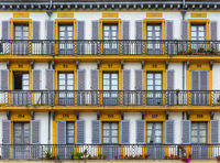 Building facade in San Sebastian, Spain