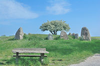 Megalithic Tomb of Nobbin near Kap Arkona,Ruegen Island,baltic Sea,Germany
