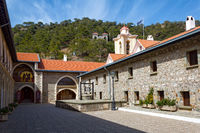 The Holy Monastery of the Virgin of Kykkos in Troodos mountains, Cyprus.