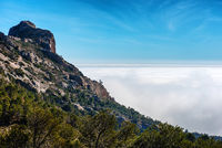High stony mountains in Busot. Alicante. Spain
