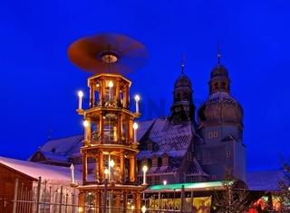 Clausthal-Zellerfeld Marktkirche und Weihnachtsmarkt - Clausthal-Zellerfeld christmas market 01