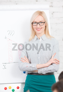 Presentation of business woman