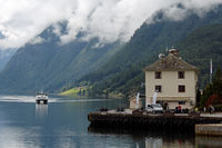 Ferry at Ulvik in the Hardangerfjord