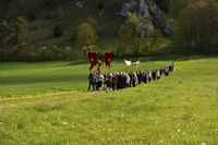 Ascension Day Procession in Bavaria in Germany
