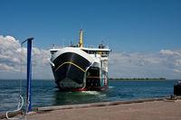 Ferry from the Danish island of Aero to Funen