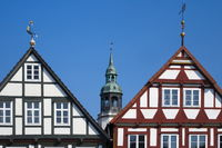 Celle - Old town houses and Town Church St. Marien