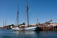 Traditional sailingboat Neerlandia in Danish port