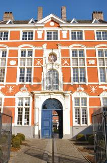 stadtpaleis schmuckfassade in gent, belgien