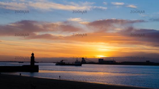 Sundown over Weser