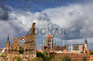 Gdansk Old City Skyline