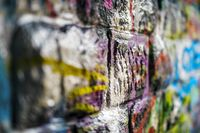 Created With Graffiti wall of hollow blocks.