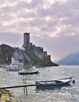 View to Malcesine at Lake Garda,italian Lakes,Italy