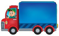 Delivery car theme image 1 - picture illustration.