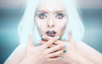 Snow queen with nails
