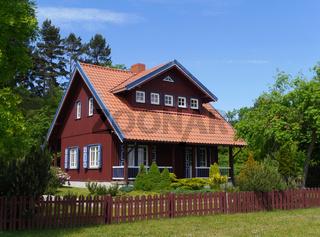 Holzhaus in Nida