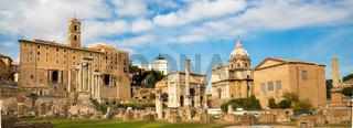 Roman ruins in Rome, Forum.