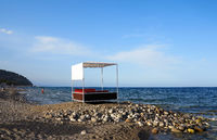 summer house on a pebble beach