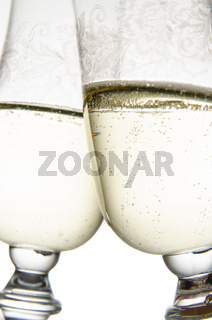 Two glasses of champagne
