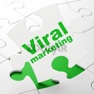 Marketing concept: Viral Marketing on puzzle background