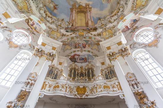 Interior of Pilgrimage Church Germany