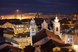 Sao Miguel Church at Night in Lisbon