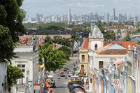 View from Olinda to the skyline of Recife