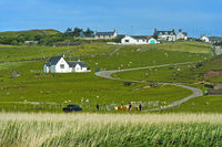 Crofting village Clachtoll, Assynt, Scotland, Great Britain
