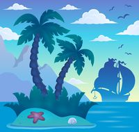 Tropical island theme image 7 - picture illustration.