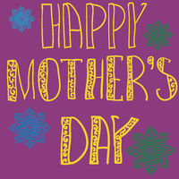 Handlettering Background With Hand Drawn Lace For Mother s Day in violet color.
