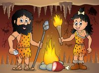 Cave people theme image 1 - picture illustration.