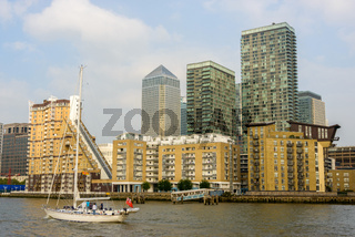 Boat on the river Thames in London