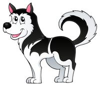 Husky dog theme image 1 - picture illustration.