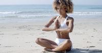 Serene Relaxed Female Yoga Instructor