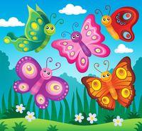 Happy butterflies theme image 2 - picture illustration.