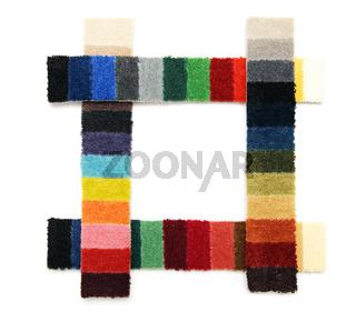 Samples of a carpet