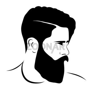 man silhouette hipster style