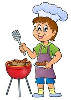Barbeque theme image 1 - picture illustration.