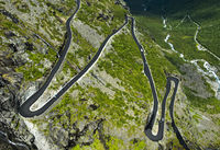 Serpentinenreiche Trollstigen Passstrasse