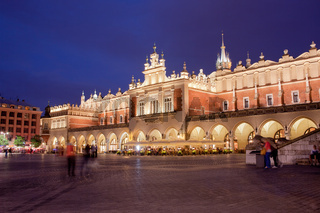 Cloth Hall in the Old Town of Krakow at Night