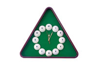 Wall clock in billiards style.