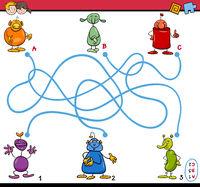 maze path activity for kids