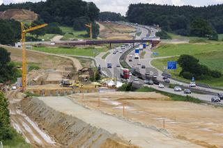 Autobahn Baustelle A8 bei Augsburg