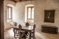 Historical Castle Hall in South Tyrol