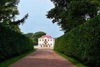 Marly palace in Peterhof garden, St-Petersburg,