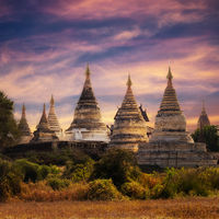 TITLE  Buddhist Temples at Bagan Kingdom, Myanmar (Burma)