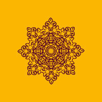 Islam henna ornament. Geometric star element in vector. Perfect cover or any other kind of design, birthday and other holiday postcard, kaleidoscope medallion, yoga yantra, indian motif