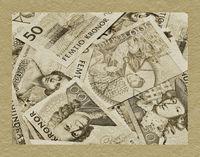 viele schwedische Kronen-Banknoten | a lot of Swedish krones