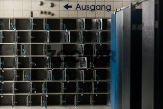 Schließfächer in einer Alten Thermalsoletherme in Bad Soden