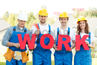 group of workmen